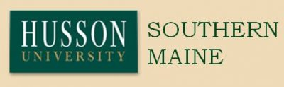 Husson Logo w background